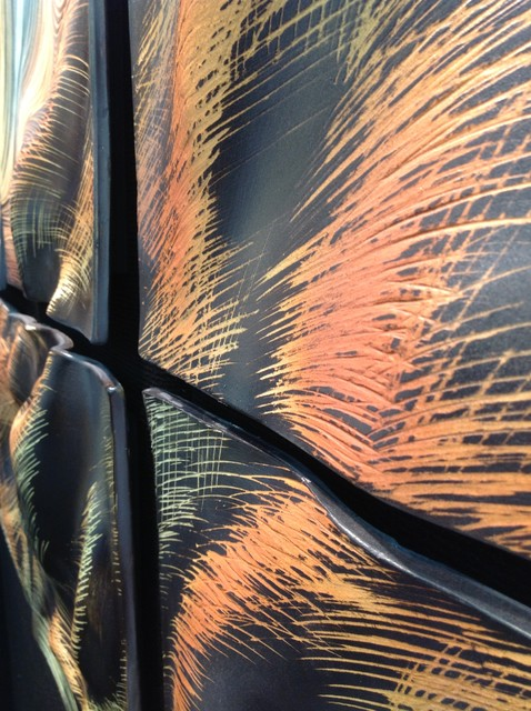 Sculptural Wall Tiles: Tree of Life design, residential installation