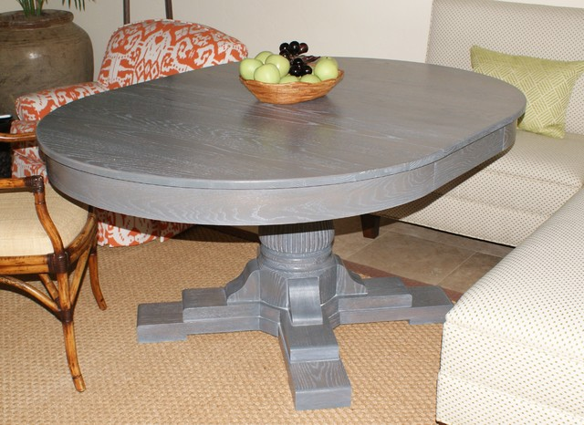 Grey Oak Table Eclectic Dining Tables Jacksonville By Paravan Wood Design