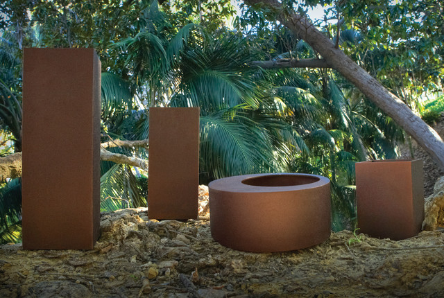 Urban Nature Planters in Copper contemporary-outdoor-pots-and-planters