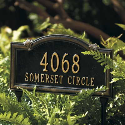 Somerset arch address sign traditional house numbers - House number signs for yard ...
