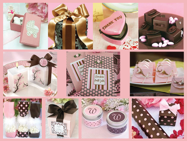 pink and brown baby shower favors ideas baby lifestyles other