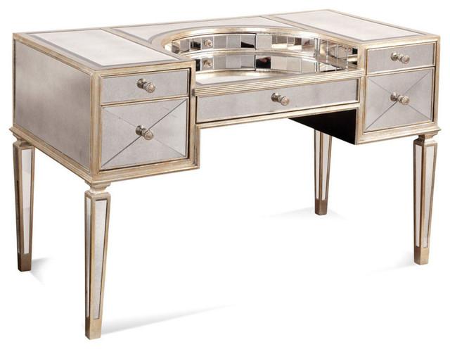 bassett mirror 8311 579 borghese mirrored vanity desk