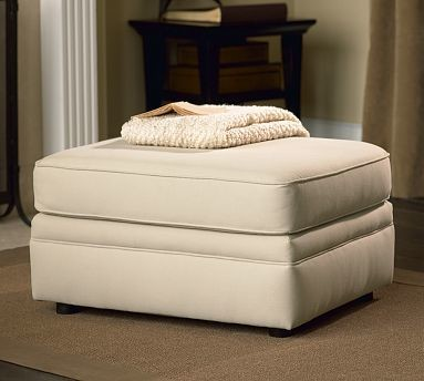 Pearce Upholstered Ottoman, Polyester Wrap Cushions, Velvet Mineral traditional-footstools-and-ottomans
