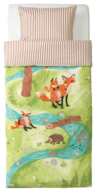 Vandring Räv Quilt cover and pillowcase contemporary-kids-bedding