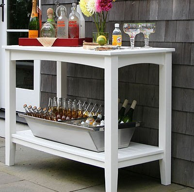Seaside Casual Windsor Buffet Table Patio Furniture And
