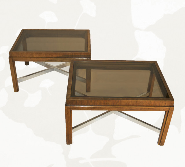 Vintage Smoked Glass Coffee Tables Coffee Tables