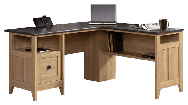 Sauder August Hill L Desk In Dover Oak Transitional