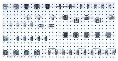 Triton 48 pc. Heavy Duty Steel Pegboard LocHook Kit modern-garage-and-tool-storage