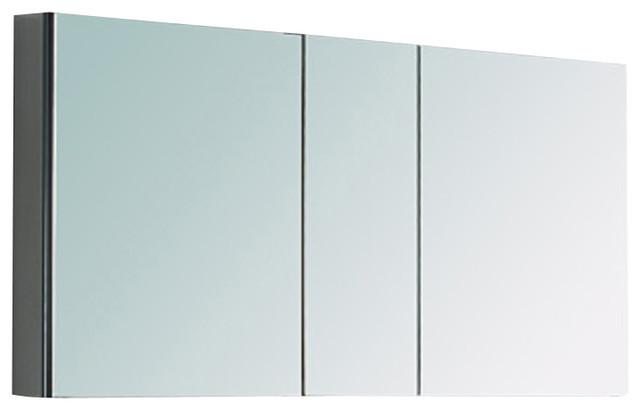 "Fresca 50"" Wide Bathroom Medicine Cabinet w/ Mirrors ..."