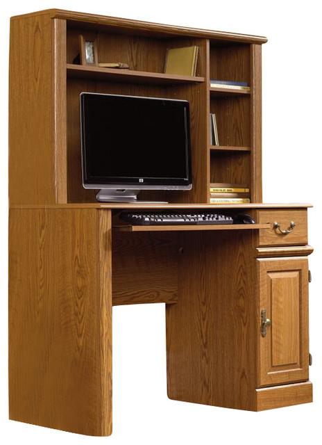 Sauder orchard hills small wood computer desk with hutch for All wood computer desk