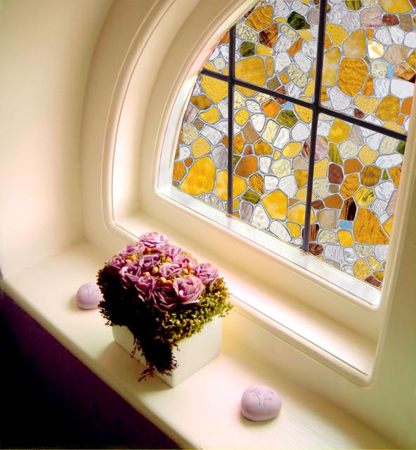 Decorative Window Film In Stained Glass Modern Window