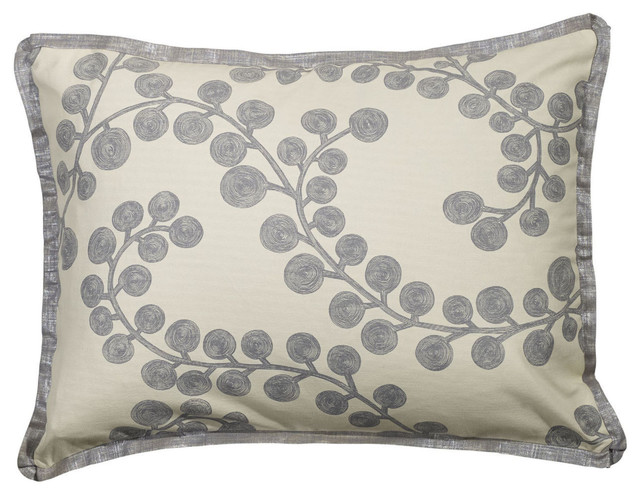 Mystic Valley Traders Radiance Steel - Standard Sham contemporary-pillowcases-and-shams