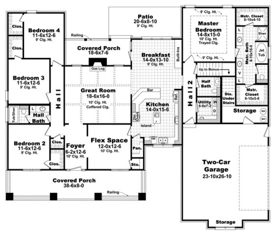 New orleans house plans traditional floor plan new for New orleans home floor plans