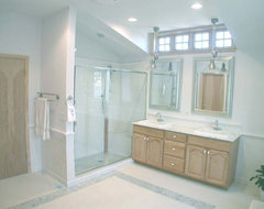 For a 5x7 bathroom are small tiles better than large for Bathroom 5x7 design