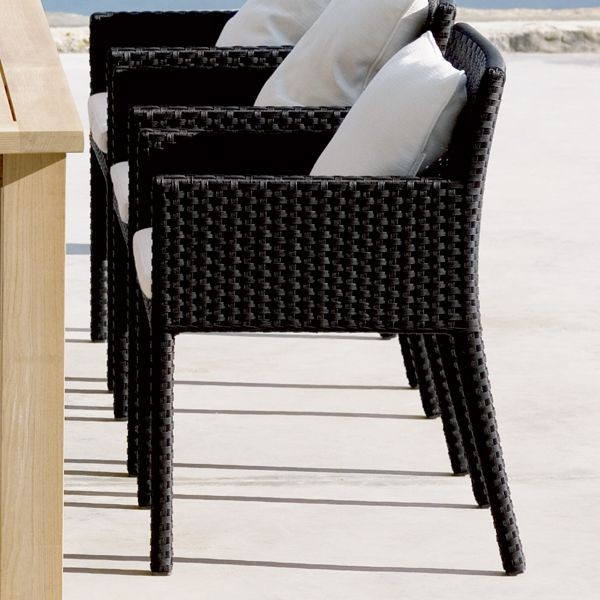 Black and White Outdoor Dining Chair