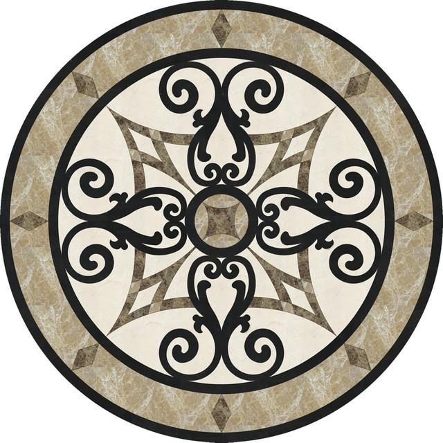 36 Stone Floor Medallion Waterjet Cut Marble And Granite