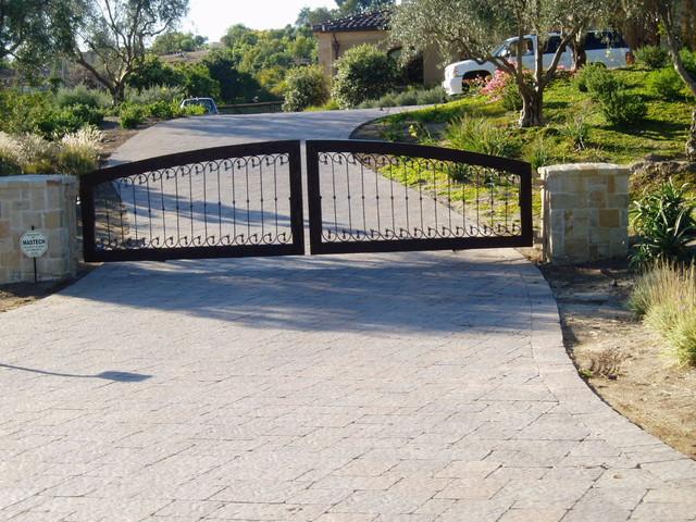 Estate Driveways, Entries, Gates, paving mediterranean