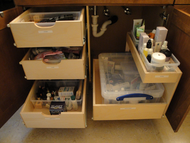 Shelfgenie bathroom pull out shelves bathroom cabinets and shelves other metro by Bathroom cabinet organizers pull out