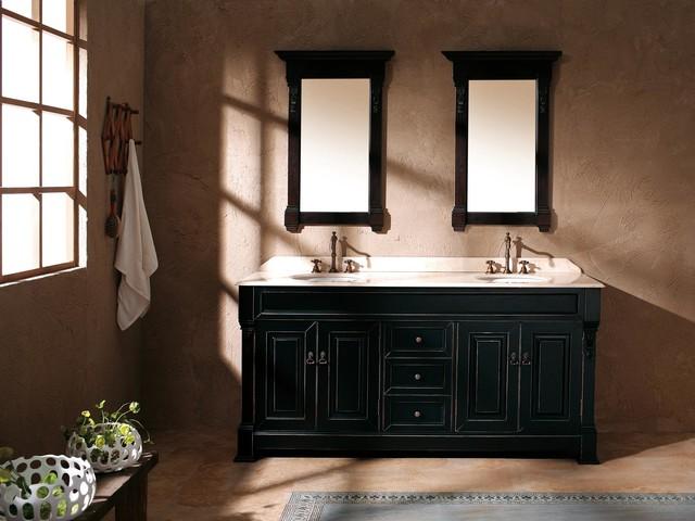 "72"" Sicily Double Sink Vanity - Antique Black traditional-bathroom-vanities-and-sink-consoles"