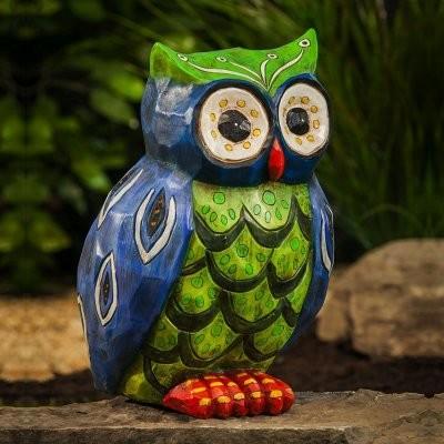 Folksy Friends Popular Buho Owl Garden Statue - modern - garden ...