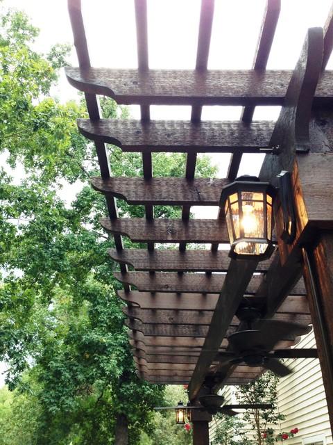 Ranch Home Patio traditional-patio