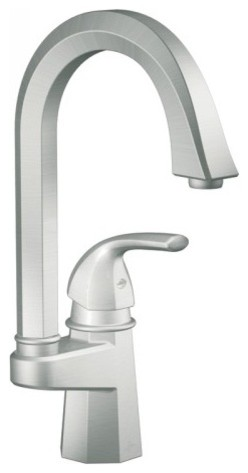 Moen S641CSL Felicity Single Handle Bar/Prep Faucet in Classic Stainless contemporary-kitchen-faucets