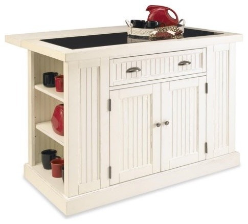 Home Styles Nantucket Kitchen Island - White - traditional
