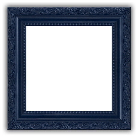Navy Blue Picture Frame Solid Wood Ornate Photo Poster