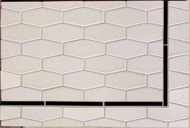 Elongate Hex tiles eclectic-tile