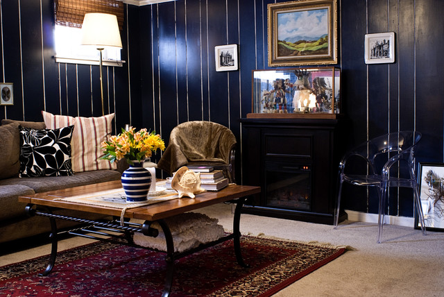 Basement Family Room eclectic-family-room