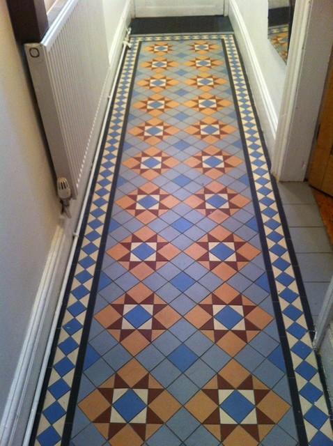 Hallway floor tiles