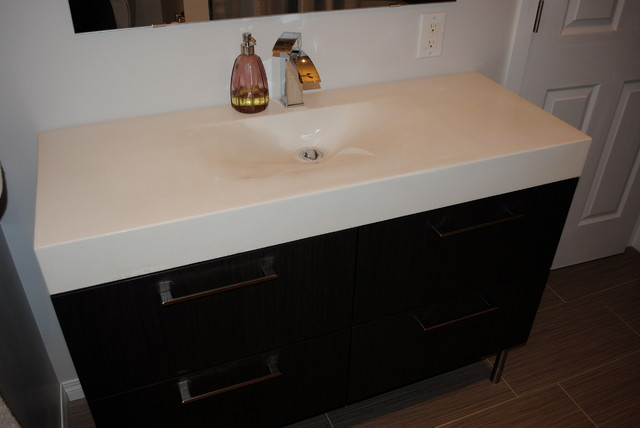 Bathroom vanities modern vanity tops and side splashes for Bathroom ideas edmonton