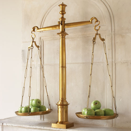 Brass Library Scales By Global Views traditional-artwork