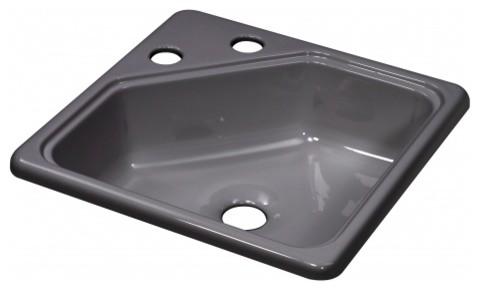 Lyons Deluxe DKS64SQ2-2.0CLP4 Acrylic Kitchen Sink modern-bathroom-sinks