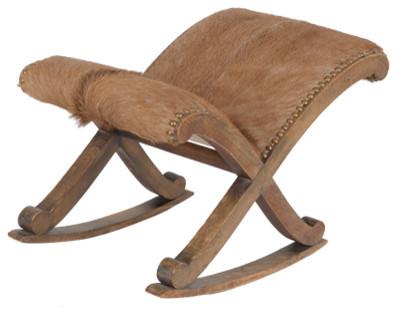 Vintage Footstool traditional-footstools-and-ottomans