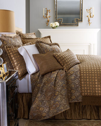Sweet Dreams Scheherazade Bed Linens Fringed Pillow, 20Sq. traditional-bed-pillows