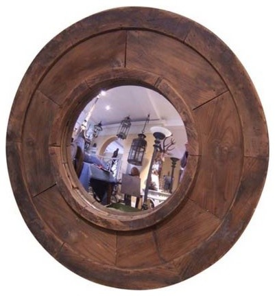 Reclaimed Sand Mold Framed Mirror rustic-mirrors