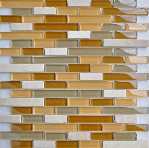 Glass stone mosaic kitchen backsplash tiles glass wall tiles SGMT015 modern-tile