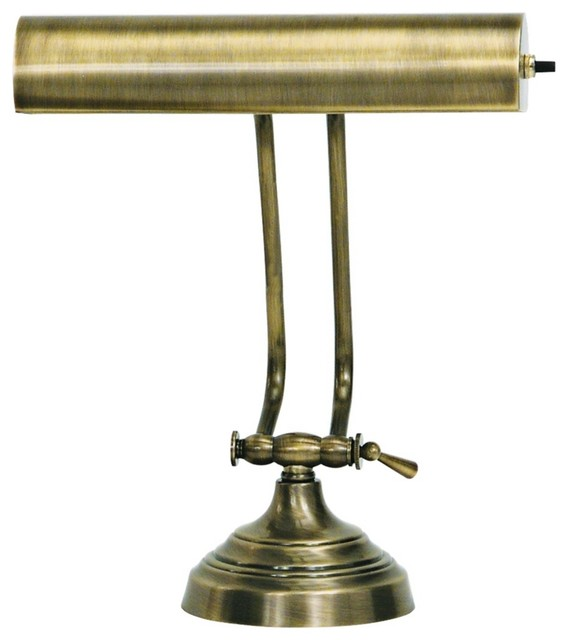 house of troy advent twin arm antique brass piano desk lamp. Black Bedroom Furniture Sets. Home Design Ideas