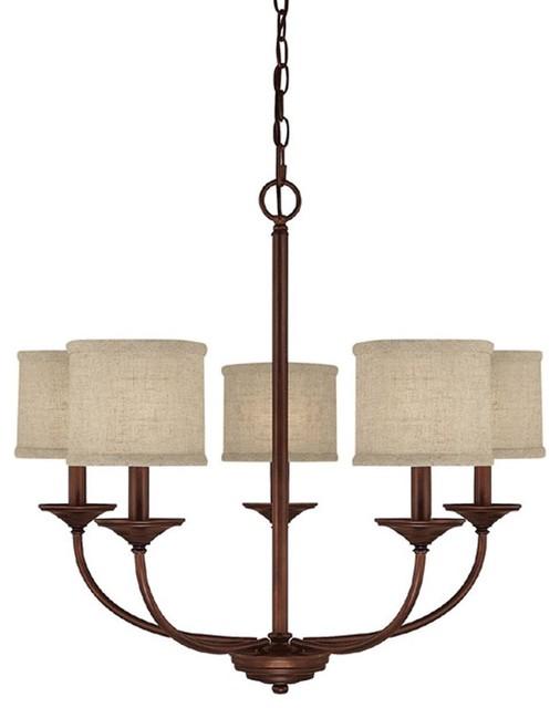 Capital Lighting 3925BB-468 5-light Chandelier Loft, Bronze contemporary-chandeliers