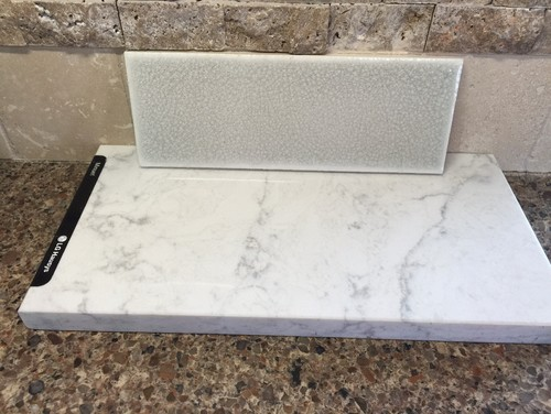 Has anybody had caesarstone calacatta nuvo countertop for Zodiaq slab size