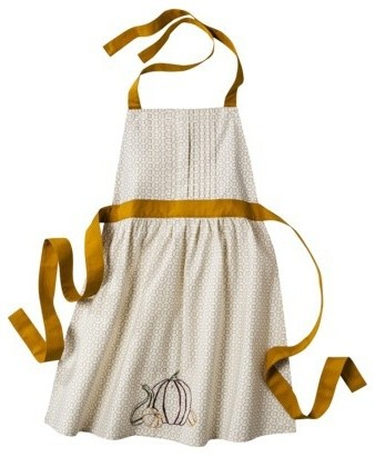 Kitchen Apron : Threshold Kitchen Apron, Gold - Contemporary - Aprons - by Target