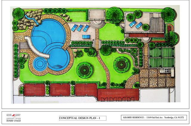 Conceptual design plan contemporary site and landscape for Landscape design site plan