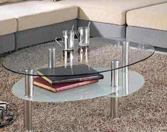 Couddy Oval Glass Coffee Table modern-coffee-tables