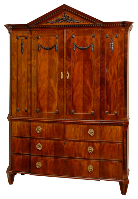 Consigned 18th Century Dutch Empire Cabinet traditional-furniture