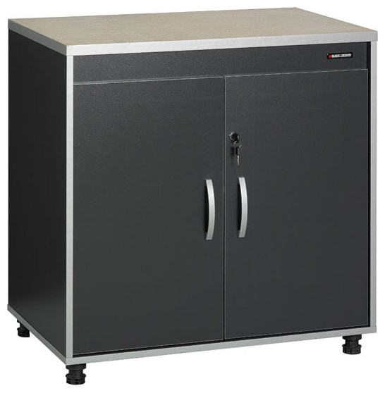 Black and Decker Garage and Workshop Base Cabinet - Contemporary - Storage Cabinets - by ...