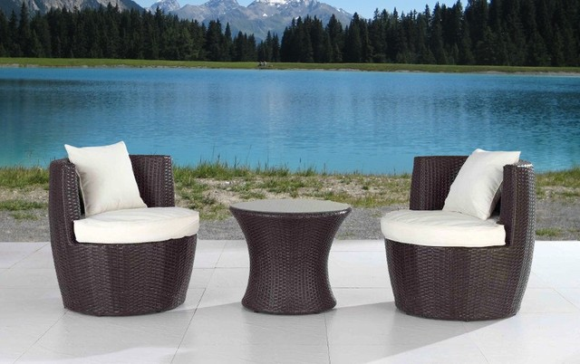 Modern outdoor patio furniture sets for small spaces for Patio furniture for narrow balcony