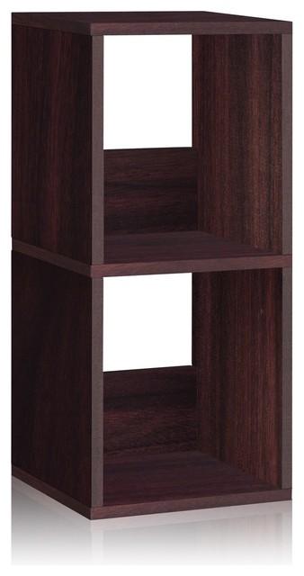 Way Basics Eco 2 Shelf Duo Narrow Bookcase, Espresso modern-kids-bookcases