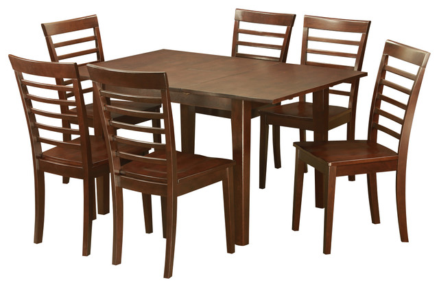 7 piece dinette set for small spaces kitchen table and 6 for Modern dining sets for small spaces