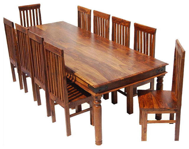 large dining room table chair set for 10 people rustic dining sets